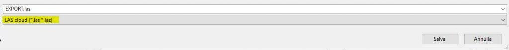 Cloud Compare export point cloud in las file