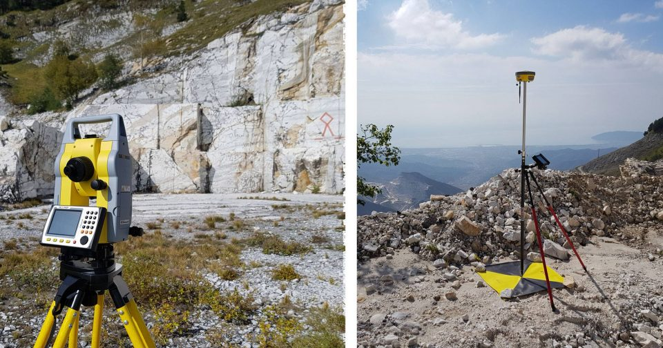 GNSS and TPS in a marble quarry
