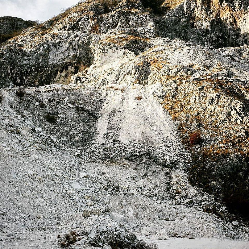 a slope in a marble quarry